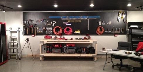Pegboard Organization And Wallpeg Tool Storage